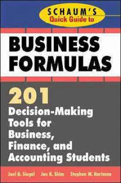 Schaum's Quick Guide to Business Formulas