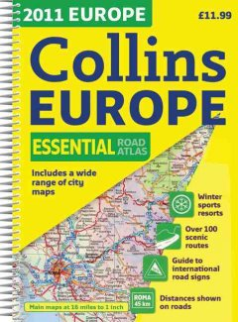 2011 Collins Europe Essential Road Atlas