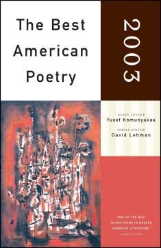 The Best American Poetry, 2003