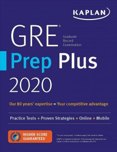 GRE® Graduate Record Examination Prep Plus 2020