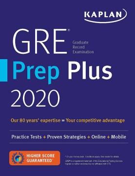 GRE® Graduate Record Examination Prep Plus 2020