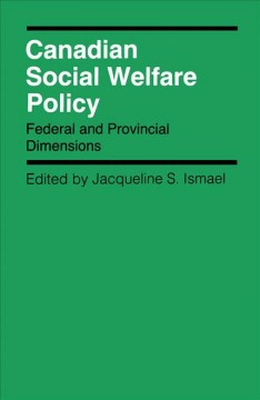 Canadian Social Welfare Policy