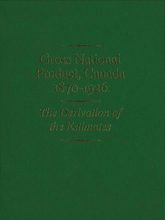 Gross National Product, Canada 1870-1926