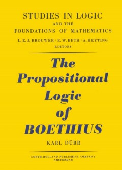 The Propositional Logic of Boethius