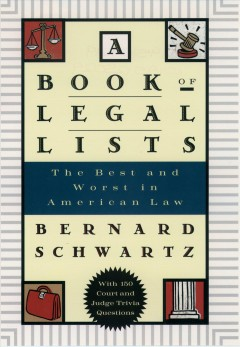 A Book of Legal Lists