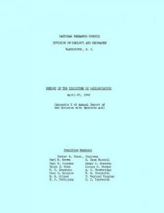 Report of the Committee on Sedimentation