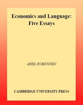 Economics and Language