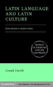 Latin Language and Latin Culture