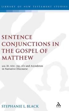 Sentence Conjunction in the Gospel of Matthew