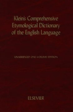 A Comprehensive Etymological Dictionary of the English Language