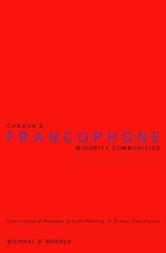 Canada's Francophone Minority Communities