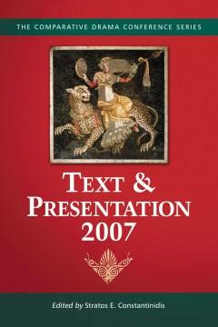 Text & Presentation, 2007