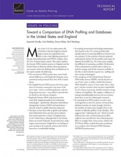 Toward A Comparison of DNA Profiling and Databases in the United States and England