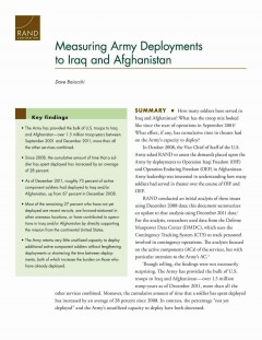 Measuring Army Deployments to Iraq and Afghanistan