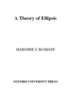 A Theory of Ellipsis