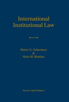 International Institutional Law