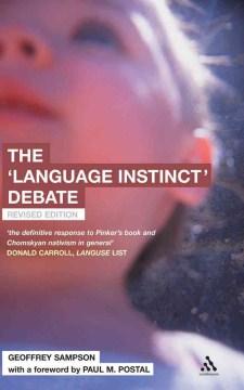 "The ""language Instinct"" Debate"