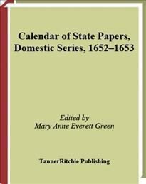 Calendar of State Papers, Domestic Series