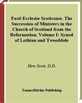 Fasti Ecclesiae Scoticanae