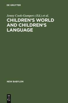 Children's Worlds and Children's Language