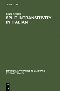 Split Intransitivity in Italian