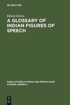 A Glossary of Indian Figures of Speech