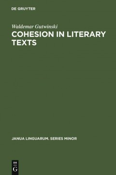 Cohesion in Literary Texts