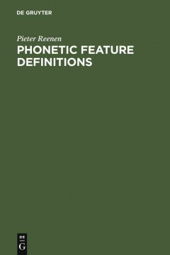Phonetic Feature Definitions