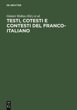 Testi, cotesti e contesti del franco-italiano