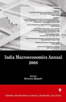 India Macroeconomics Annual, 2008