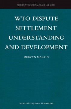 WTO Dispute Settlement Understanding and Development