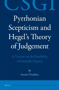 Pyrrhonian Scepticism and Hegel's Theory of Judgement