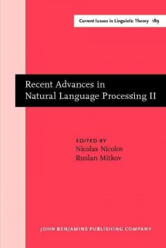 Recent Advances in Natural Language Processing II