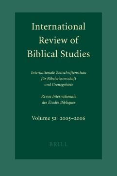 International Review of Biblical Studies