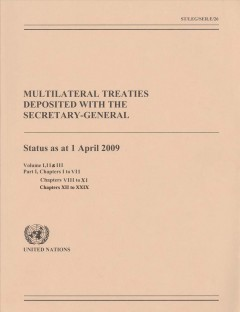Multilateral Treaties Deposited With the Secretary-General