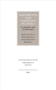Partimento and Continuo Playing in Theory and in Practice