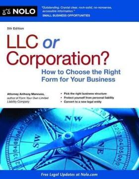 LLC or Corporation?