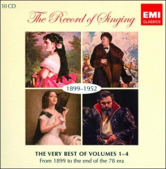 The Record Of Singing (1899-1952)