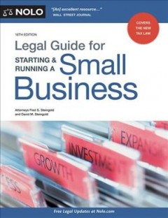 Legal Guide for Starting & Running A Small Business, [2019]