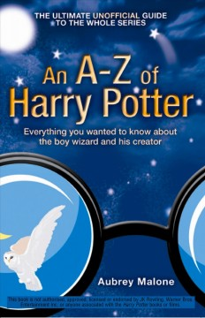 An A-z of Harry Potter Book Cover