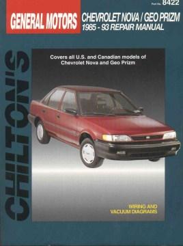 Chilton's General Motors Chevy Nova/Geo Prizm