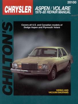 Chilton's Chrysler Aspen/Volare 1976-80 Repair Manual