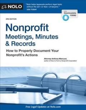 Nonprofit Meetings, Minutes, & Records