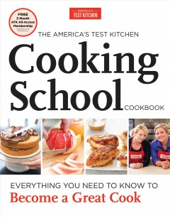 The America's Test Kitchen Cooking School Cookbook Book Cover