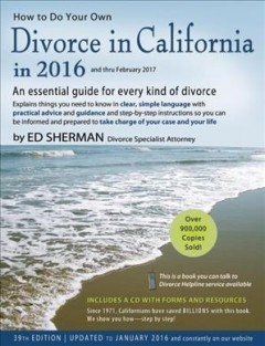 How to Do your Own Divorce in California in 2016