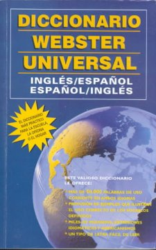 Diccionario Webster universal, ingles-español, español-ingles