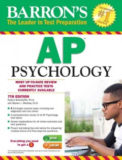 Barron's How to Prepare for the AP Pscyhology Advanced Placement Examination