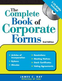 The Complete Book of Corporate Forms