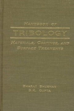 Handbook of Tribology
