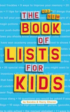 The All-new Book of Lists for Kids